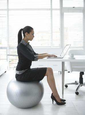 stability ball desk photo